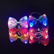 10pcs/lot New fashion <b>luminous led</b> tie toys night <b>glowing</b> necktie ...