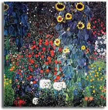 PIXELARTZ <b>Canvas</b> Painting - Gustav Klimt - Farm Garden With ...