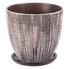 <b>Горшок</b> цветочный «Меланж» серый 1.5 л 150 мм, <b>керамика, с</b> ...