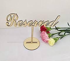 RUIXUAN Set of 3 Acrylic Reserved Table Sign ... - Amazon.com