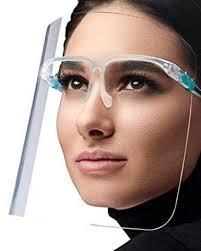 <b>Face Shield</b>, <b>Anti</b>-<b>Fog</b>, with <b>Eyewear</b> Frame Kit, 10-Pack