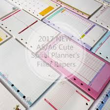 2017 New <b>Cute A5</b>/<b>A6</b>/A7 Notebook's Filler Papers <b>Creative</b> 6 Holes ...