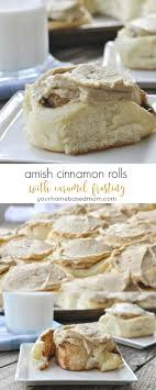 best images about pennsylvania dutch amish folk amish cinnamon rolls caramel frosting