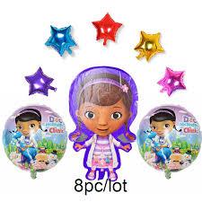 <b>8pcs</b>/lot McStuffins Doctor <b>foil</b> Balloon <b>cartoon</b> Doc McStuffins ...