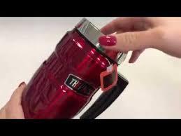<b>Термокружка THERMOS</b> серии King SK 1000 Red <b>0.47 л</b> - YouTube