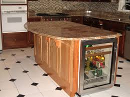 Kitchen Islands With Granite Countertops Handmade Kitchen Island With Winecooler And Granite Countertop By