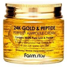 «FarmStay Антивозрастной <b>ампульный крем с</b> золотом и ...