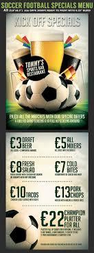 soccer flyerstemplates soccer football bar flyer menu template
