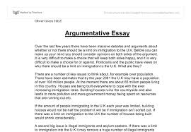sample argumentative sample essay   resume sample information    sample resume  argumentative essay example about limit on immigration to the uk  sample argumentative