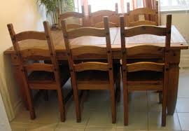 chair dining room tables rustic chairs: pine dining table rustic mexican furniture dark