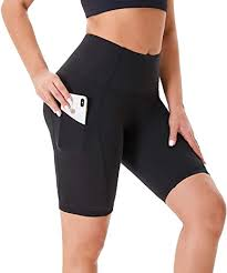 NexiEpoch Yoga Shorts for <b>Women</b> - <b>High Waist Tummy</b> Control