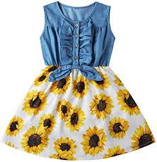 Amazon.com: Enlifety Little Girls Princess Dresses Sleeveless ...