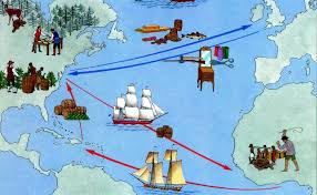 triangular trade map family ancestry project