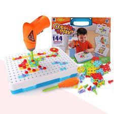 Children Kids <b>Drill Puzzle Educational Toys</b> SetScrew Group Tool ...