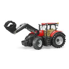 bruder машинка трактор case ih optum 300 cvx с погрузчиком