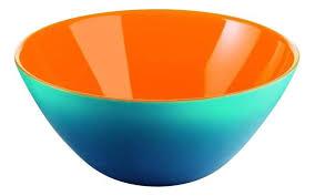 <b>Салатник Guzzini</b> My Fusion <b>20 см</b> голубо-оранжевый купить ...