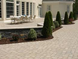 concrete patio stones brick
