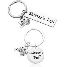 Shitter's Full <b>Camper Keychain</b> Happy <b>Camper RV Keyring Camping</b> ...