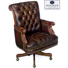 hooker brown antique leather executive office chair antique leather office chair