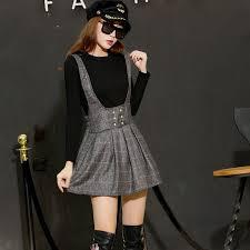 1 pcs Women mini shoulder-<b>straps</b> pleated skirts <b>2016</b> Autumn <b>New</b> ...