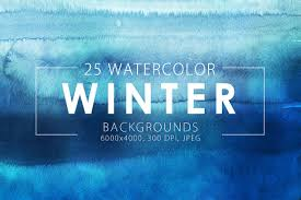 winter watercolor backgrounds textures on creative market