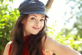 Fun Happy <b>Woman</b> In <b>Cap</b> Posing <b>Outdoors Summer</b> Background ...
