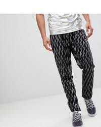 Купить черные <b>брюки чинос с геометрическим</b> рисунком ...