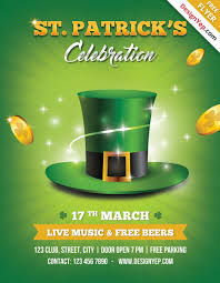 fresh spring psd flyer templates psd templates st patricks day flyer template psd