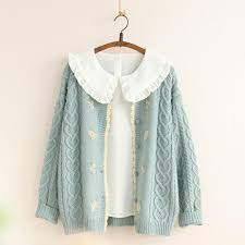 <b>Autumn New</b> Women Knitted <b>Sweater Cardigan</b> Outwear Cable Knit ...