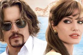 "The Tourist. Johnny Depp as ""Frank"" and Angelina Jolie as ""Elise"" in Columbia Pictures' THE TOURIST. Photo By: Peter Mountain. - tourist_dvd_c"