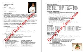 private chef resume info private chef resume example 1