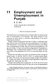 employment and unemployment in punjab springer inside