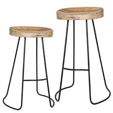 gavin stools l 215 counter height 245 bar height hand forged iron bases and carved carved solid mango wood