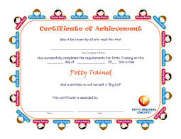 potty training certificates potty training concepts potty training certificates for girls