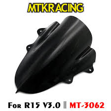 <b>MTKRACING</b> Motorcycle WindScreen Visor Viser Fits For <b>YAMAHA</b> ...