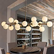 Fandian Post-Modern Chandelier <b>16</b> Round Glasses <b>LED</b> Ceiling ...