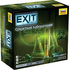 """<b>Игра настольная Звезда</b> """"EXIT Квест. Секретная лаборатория ..."""