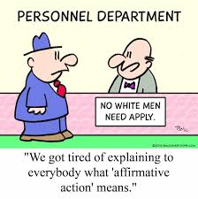 this political cartoon tries to demonstrate that affirmative this political cartoon tries to demonstrate that affirmative action in the work place is almost like
