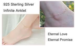 3UMeter Rose Gold Anklet for Women Sterling Silver ... - Amazon.com
