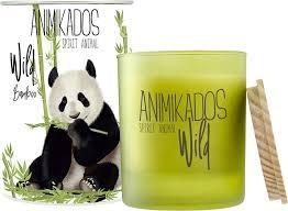<b>Свеча ароматическая Ambientair Panda</b> - бамбуковый Wild 40 ч