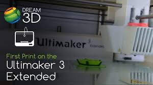 <b>Ultimaker 3 Extended</b> First Print | Dream 3D - YouTube