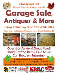 rd annual fall garage antiques more mount vernon fall garage flyer