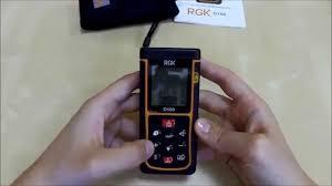 Лазерный <b>дальномер RGK D100</b> - YouTube
