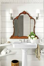 farmhouse bathroom mirror tutorial industrial small white farmhouse bath with a mirror salvaged from an old vanity t