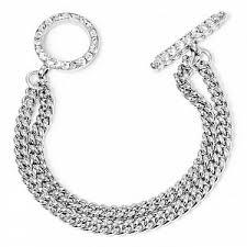 <b>Покрытый серебром</b> браслет с кристаллами, из коллекции Rock ...