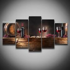 room modern camille glass: printed wine glass grape picture modular painting modern wall art for kitche living room home decor