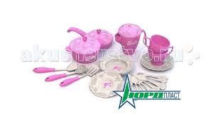 <b>Набор</b> кухонной и чайной посудки Барби (21 предмет) в сетке ...