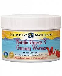 Nordic Naturals <b>Nordic Omega-3 Gummy Worms</b> 30 - Strawberry