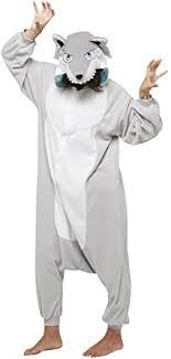 Amazon.com: Silver <b>Wolf Kigurumi</b>,Silver,Adults: Clothing