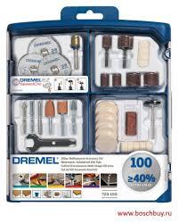 Купить <b>набор многофункциональных насадок Dremel</b> (100 шт ...